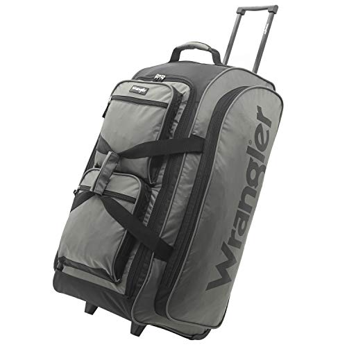 "Wrangler Rolling Travel Duffel, Charcoal Grey, 30"" Large"