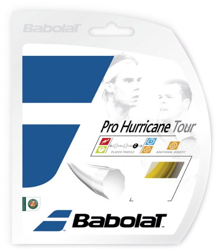 BABOLAT Pro Hurricane Tour Tennissaiten (12 m), Gelb, 130/16 x 6m