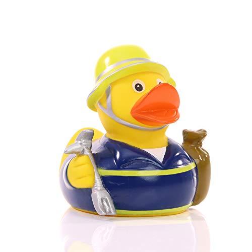 Schnabels Badeente THW - Geschenk für Technisches Hilfswerk Ehrenamt Hilfeleistung - lustig originell Glücksbringer - Spielzeug Quietsche-Ente Deko-Artikel Badewanne