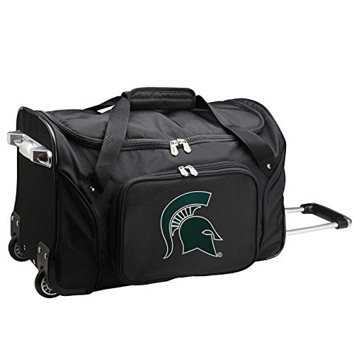 Best Deals! NCAA Michigan State Spartans Wheeled Duffle Bag, 22-inches