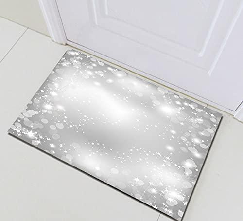 Navidad punto estrellas parpadeantes interior antideslizante puerta estera, alfombra de baño, patrón de alta definición 45* 75cm, decoración casera