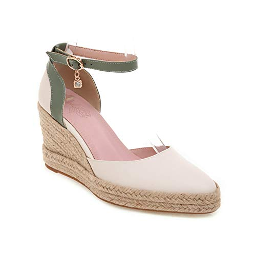 Zapatos Gruesos para Mujer, Suela Suave, Correa de Tobillo, Hebilla al Aire Libre, Primavera Verano, Sandalias duraderas para Caminar, Zapatos de cuña para Mujer