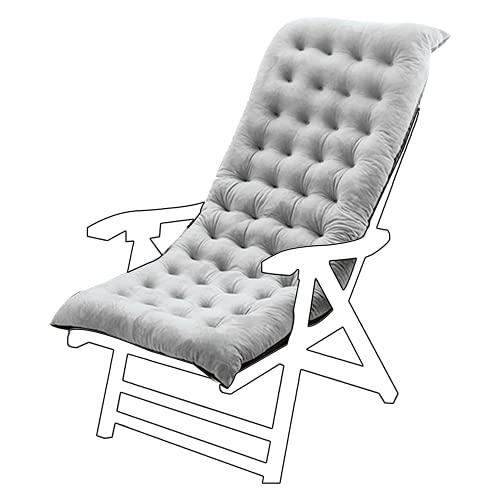 Silla de jardín al Aire Libre Cojín de Color sólido Cojín cómodo cómodo Silla de Oficina Cojines de Asiento reclinable Cojín de Silla Larga(E)