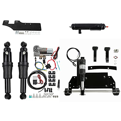 SLMOTO Electric Center Stand Air Ride Suspension Fit for Harley Touring Street Glide 09-16 Electra Glide Road King Street Glide Ultra Limited