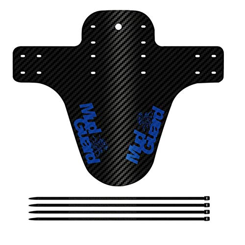 SZTUCCE Fine Bicycle Fenders Bike Mudguard Carbon Fiber Front/Rear MTB Mountain Bike Wings Mud Guard Cycling Accessories 8 Colors (Color : Blue)