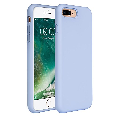 Miracase iPhone 8 Plus Silicone Case, iPhone 7 Plus Silicone Case Gel Rubber Full Body Protection Shockproof Cover Case Drop Protection for Apple iPhone 7 Plus/iPhone 8 Plus(5.5')-Clove Purple