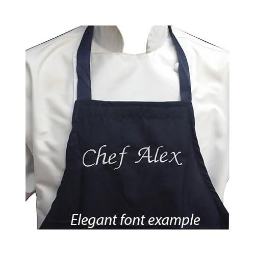 Personalized Monogram Chef Apron Chef Apron  Custom Monogram Chef Apron Initials