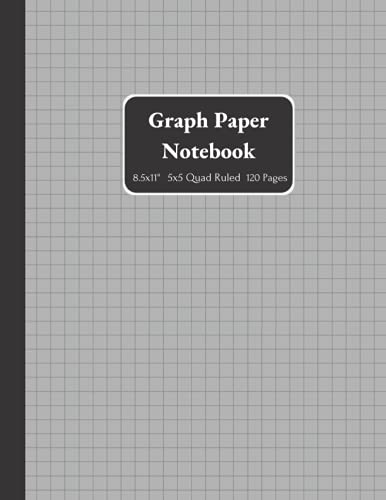 Graph Paper Notebook 8.5 x 11: Quad Ruled Composition Notebook - 5x5 Quad Ruled 120 pages - Graph Paper Notebook for Architects and Designers - ... - Quad Ruled Graph Paper   (21.6 x 27.9 cm)