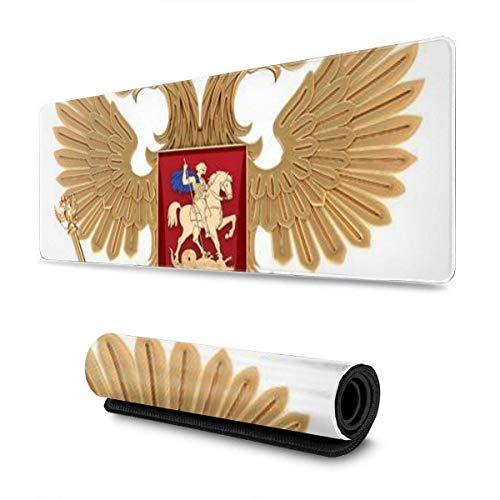 Mausepad Arme Zweiköpfiger Adler Goldenes Symbol Russische Föderation Spielmatte Tastatur Benutzerdefinierte Mauspad Gummibüro Rutschfest Großes Mousepad Schule Gedruckter Laptop