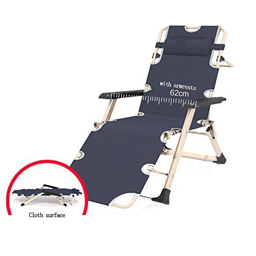 FEIFEI Fauteuils inclinables Chaise longue Chaise pliante Chaise soleil Chaise de bureau pause déjeuner Balcon Chaise d'intérieur Pliant (Couleur : Gris)