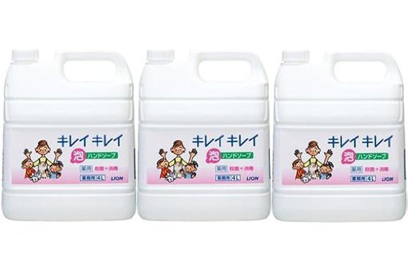 小人スムーズにスーツライオン株式会社 キレイキレイ 薬用泡ハンドソープ 業務用 4L×3個セット