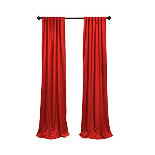 LA Linen Pack-2 Polyester Poplin Backdrop Drape 96 by 58-Inch Wide, Red, 96 x 58