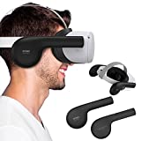 KIWI design Silicone Ear Muffs for Oculus Quest/Quest 2 VR Headset, A Enhancing Sound Solution for Oculus Quest/Quest 2 Accessories (Not Fit Elite Strap)