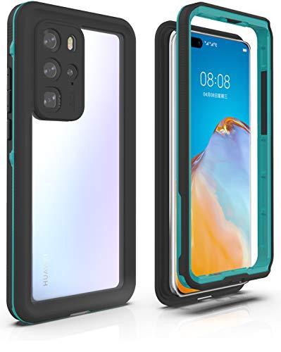 YOGRE für Huawei P40 Pro Hülle, IP68 Wasserdicht Stoßfest Staubdicht Schneefest 360 Grad Handyhülle Leicht Outdoor Unterwassergehäuse Full Body Schutzhülle für Huawei P40 Pro,Blau