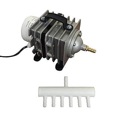 Finest-Filters Pond Air Pump Koi Fish Pond Hydroponic Piston Compressor Fish Tank Aquarium 20-90l/m (40 Litres/Min)