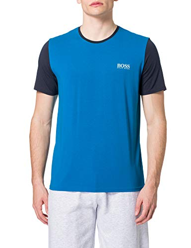 BOSS Balance T-Shirt RN Camiseta de Pijama, Turquoise/Aqua447, L para Hombre