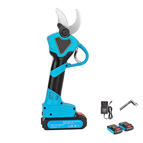 Scissors Yxx@ Tijeras de Podar Eléctricas sin Cable Profesionales de 21V, Diámetro de Corte de 30mm 2 Piezas Recargable de Respuesto Alimentada por Batería de Litio de 2Ah Podadora Eléctricas