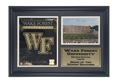 Wake Forest Demon Deacons NCAA Double Matted 8x10 Photograph Team Logo