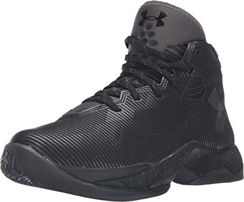 Under Armour Grade School Curry 2.5 Basketball Shoe (6.5Y, Black/Charcoal/Graphite)