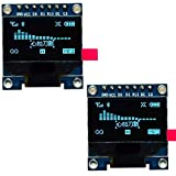 DollaTek 2Pcs 7Pin 0.96 Inch OLED Display 12864 SSD1306 SPI IIC Serial Screen Module LCD para Arduino - Azul