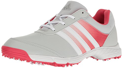 adidas Women's Tech Response Golf Shoe, Clear/Grey/Coral Pink, 8.5 M US