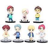 BTS Cake Topper Pastel Decoración Suministros 7Pcs Bangtan Boys Figures Toy BTS Juguetes Muñeca Hecha a Mano Muñeca Decoración para niños Animales Juguetes Set
