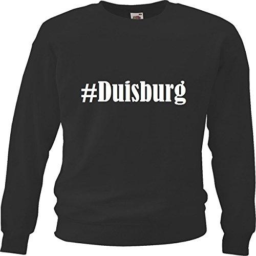 Reifen-Markt Sweatshirt #Duisburg Größe S Farbe Schwarz Druck Weiss