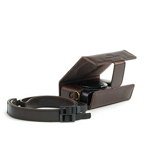 MegaGear MG820 Estuche para cámara fotográfica Carcasa compacta Marrón - Funda (Carcasa compacta, Canon, PowerShot SX620 HS, Tirante para Hombro, Marrón)