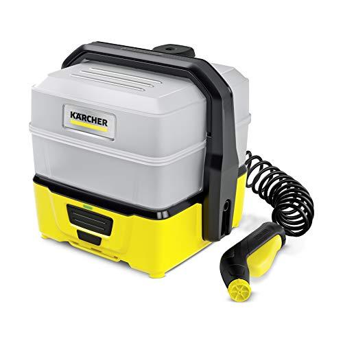 Kärcher Mobile Outdoor Cleaner OC 3 Plus (extra großes Wassertankvolumen: 7 l, Lithium-Ionen-Akku, Spiralschlauch, Gerätefilter, abnehmbarer Wassertank, schonender Niederdruck)