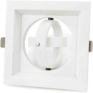 Reflektory punktowe do sufitu, MR16 GU10 lampa downlight fiting, oświetlenie sufitowe łazienki, 6 sztuk białe kwadratowe ś...