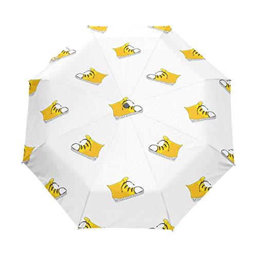SUHETI Regenschirm Taschenschirm,Vector Seamless Pattern Hintergrund Sneakers Hipster,Auf Zu Automatik,windsicher,stabil