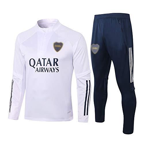 HIAO Camiseta del Club Europeo Entrenamiento de fútbol Traje Club de jóvenes Adultos de Manga Larga con Capucha de la Chaqueta Transpirable Jogging Plus Traje de Pantalones LQ00164 A00201 (Size : L)