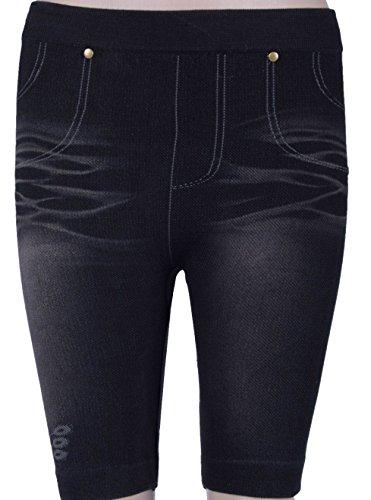 Dames korte broek jeans look leggings zomerbroek shorts elastische treggings fietsbroek wielerbroek wielershorts universele maat S-L