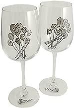 10th Wedding Anniversary Wine Glasses Pair