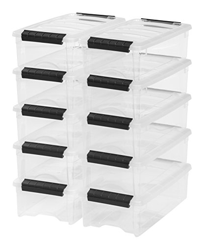IRIS 5 Quart Stack & Pull Box, 10 Pack