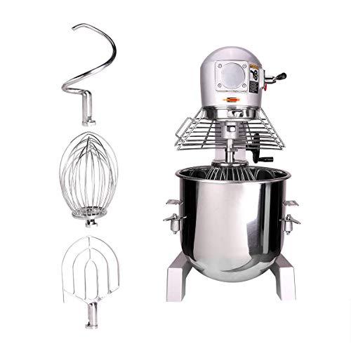 VONLUCE 30L Impastatrice Planetaria Multifunzione Robot da Cucina per Pane, Pizza, Pasticceria con Ciotola in Acciaio Inossidabile Impastatrice da Cucina Professionale 1100W (30 L)