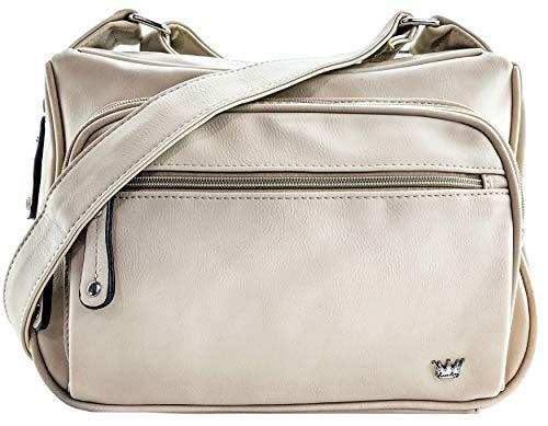 Purse King Magnum Beige Concealed Carry Handbag