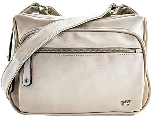 Purse King Magnum Beige Concealed Carry Handbag