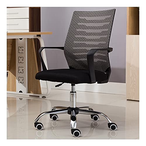 VIVIANSHOP Computerstuhl Home Conference Office Chair Lift Swivel Chair Personalwohnheim Studentenstuhl Sitz Mesh Chair Ergonomie Grey-B