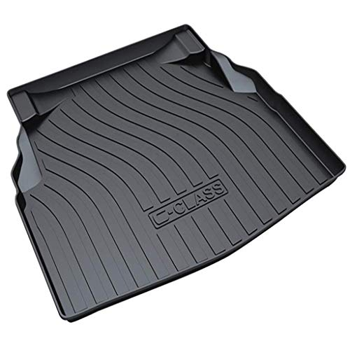 Special Car Boot Liners Cover Mats Rear Trunk Pad Cargo Liners Rubber Floor Mat Waterproof for Merc-edes Be-nz GLA/E-Class/C-Class/GLE/CLA 2011 to 2021,C Class has net pockets