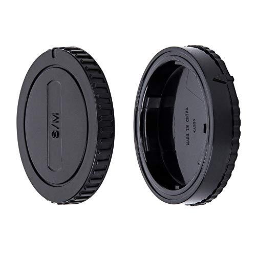 JJC Gehäusedeckel + Objektivdeckel (hinten) für Sony Alpha A-Mount/Minolta AF Mount DSLR Kameras & Sony Alpha A-Mount/Minolta AF Mount-Objektiv (1 Set)