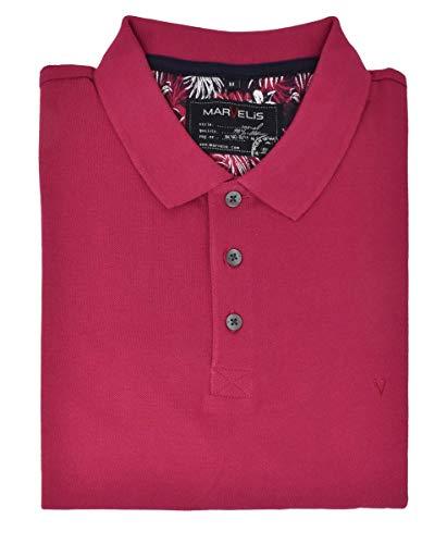 Marvelis Poloshirt Pique Basic Magenta Halbarm Reine Baumwolle, Größe:XL