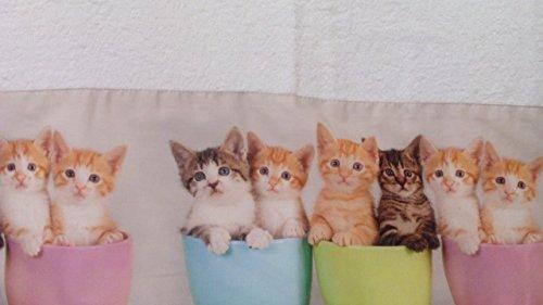 Zweiteiliges Bad-Set – Handtuch mit Gästehandtuch für Welpen und Katzen im Digitaldruck, hochwertiger Fotodruck (Handtuch 60 x 100 cm, Gästehandtuch 40 x 60 cm) Katze