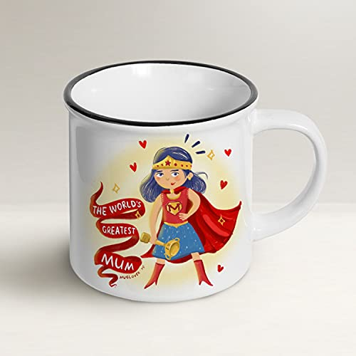 Mug Lover – The World's Greatest Mum (ENGLISH) - Mug gift idea with envelope, greeting card and organza pouch