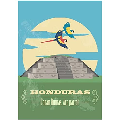 Shmjql Honduras Travel Tour Vintage Canvas Wall Art Poster Wall Canvas Print Picture Home Decor-40X60Cmx1 No Frame