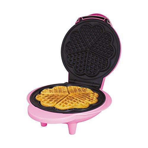 Global Gizmos 35570 Mini Waffle Maker 1000W / Unique Thermostatic Design / Non-Stick Plates / Easy Clean / 25cm x 22cm