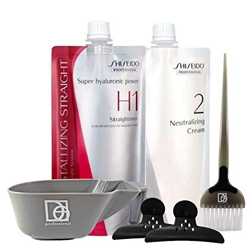 Hair Rebonding Professional Crystallizing Hair Straightener (H1) + Neutralizing Emulsion (2) SET with Bowl, Brush and Hair Clips