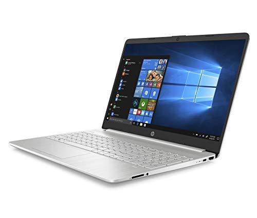 """HP – PC 15s-fq1034nl Notebook, Intel Core i7-1065G7, RAM 8 GB, SSD 512 GB, Grafica Intel Iris Plus, Windows 10 Home, Schermo 15.6"""" FHD Antiriflesso, Lettore Impronte Digitali, Lettore MicroSD, Argento"""