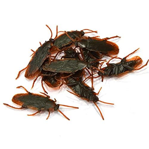 Ohomr 10pcs la falsificación de la cucaracha de la Novedad cucarachas Insectos Insectos realistas en Busca de Halloween del Truco Fools'day Juega el Partido