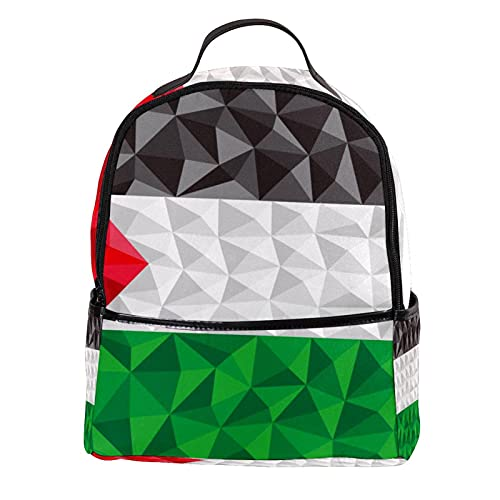 KAMEARI Rugzak voor School Palestina Vlag Casual Dagrugzak voor Reizen met Fles Zijzakken